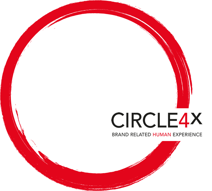 red circle with circle4x logo